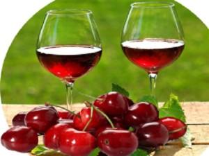 Вино и черешня